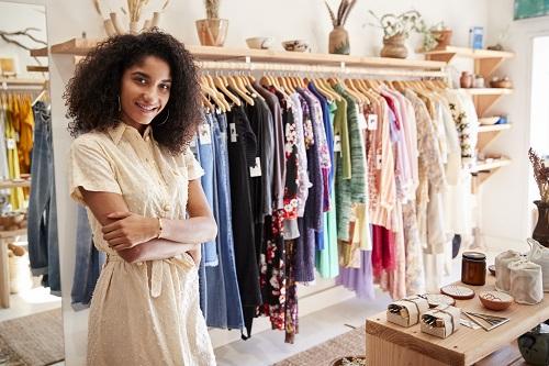 boutique de vêtements imprimés